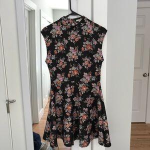 Silky smooth, floral, high color, skater dress